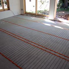 Installation et branchement de plancher chauffant